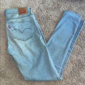 LEVI's 711 Skinny Light Wash Jeans
